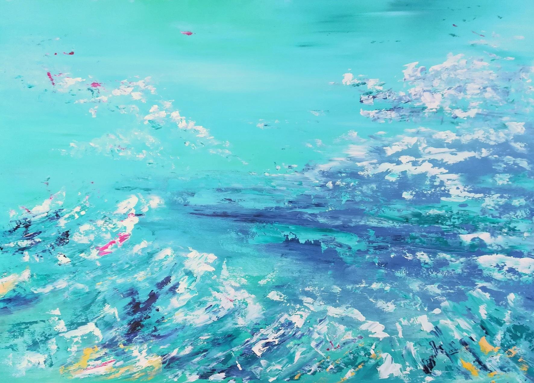 Emotion Sainte Croix 02, huile sur dos d'encadrement, format 50x60cm, 2018 collection privée
