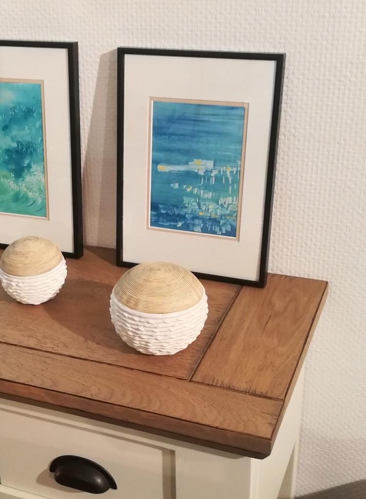 Emotions Bleues 03, huile sur carton, format 21x29,7cm, 2018, 90€ avec encadrement